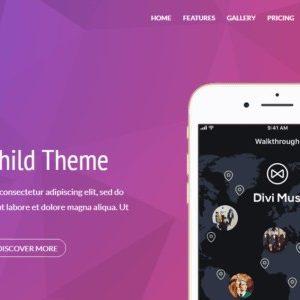 Szablon Wordpress aplikacja mobilna