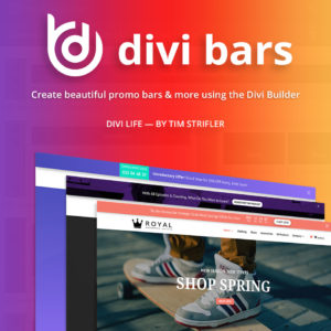 Wordpress Divi Bar