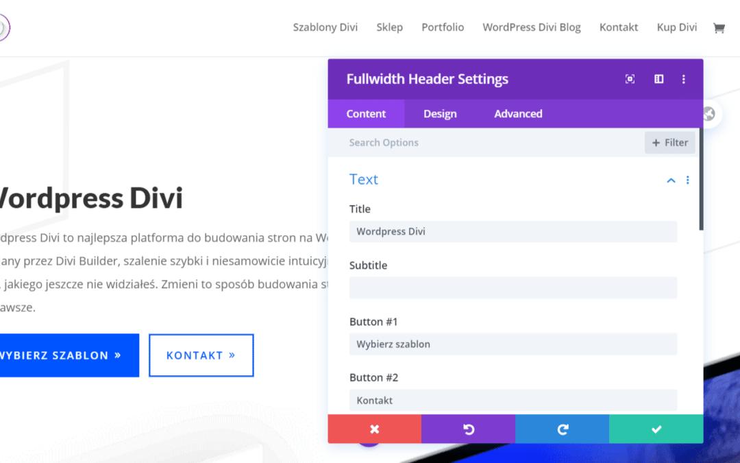 zalety Wordpress Divi