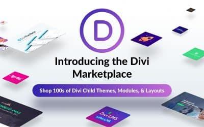 Premiera Divi Marketplace od Elegant Themes